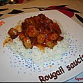 Rougail saucisses haricots rouges