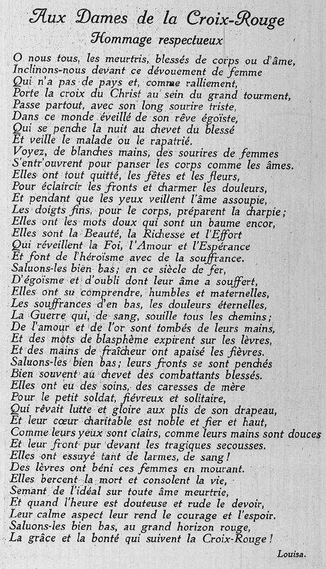 Almanach des ardennes 1918 croix rouge