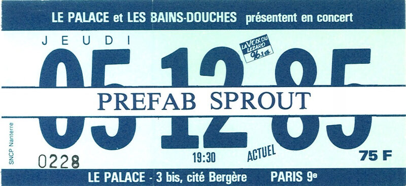 1985 12 Prefab Sprout Eldorado Billet