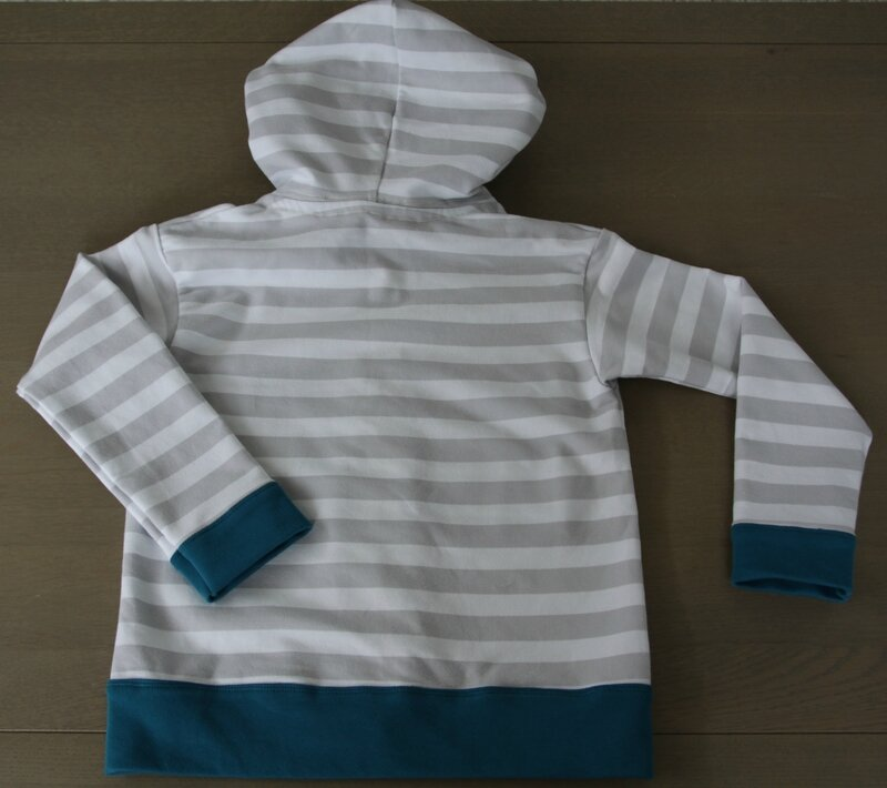 Gilet sweat capuche Block Stripes Ottobre lillestoff (3)