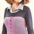 Création au #tricot : corset ajouré