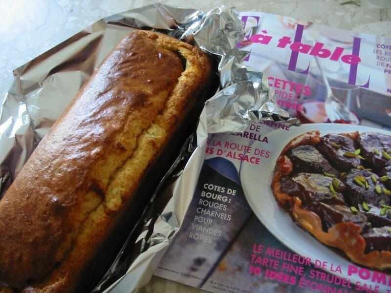 Cake au gorgonzola, miel et romarin frais
