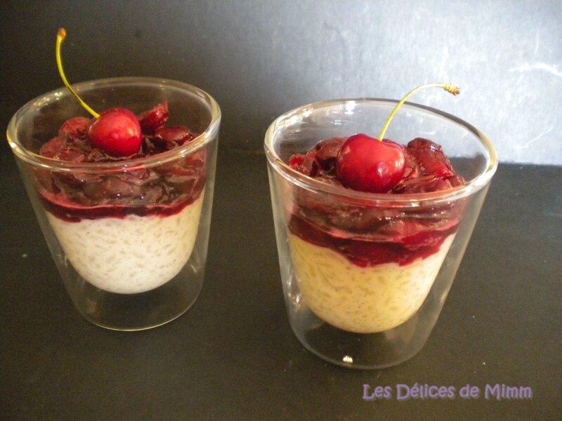 Riz au lait très vanillé et compotée de cerises au kirsch 4