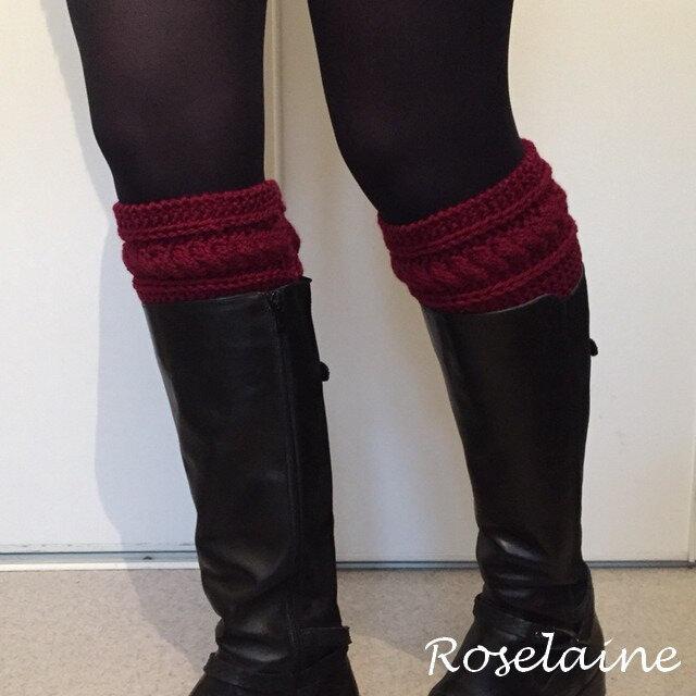 Roselaine boot cuffs torsade 3