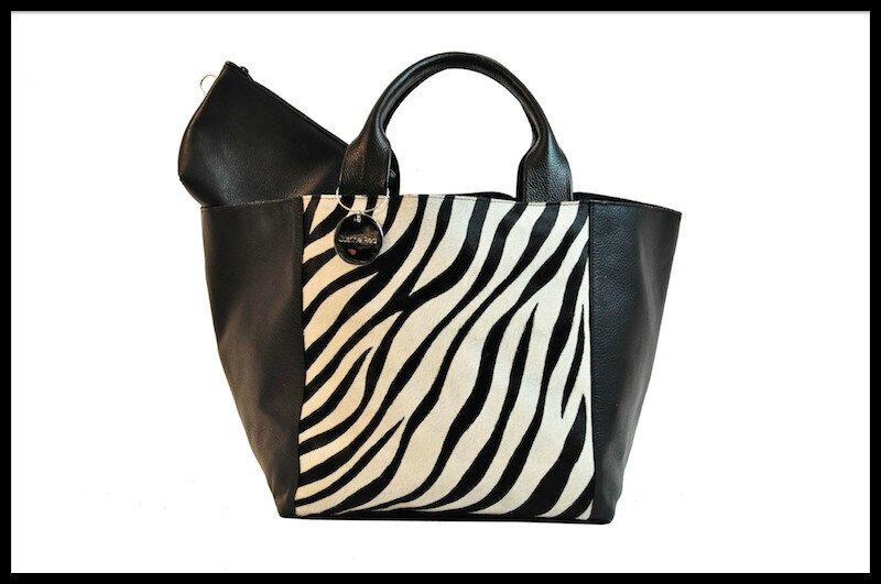 justine red cabas zebre