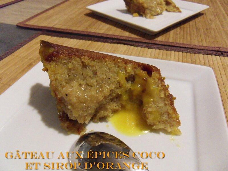 gâteau aux épices coco et sirop d'orange1