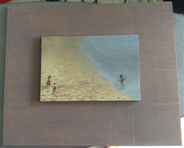 Viens à ou, té! , huile sur carton toilé, 22.5 x 15 cm, 2016