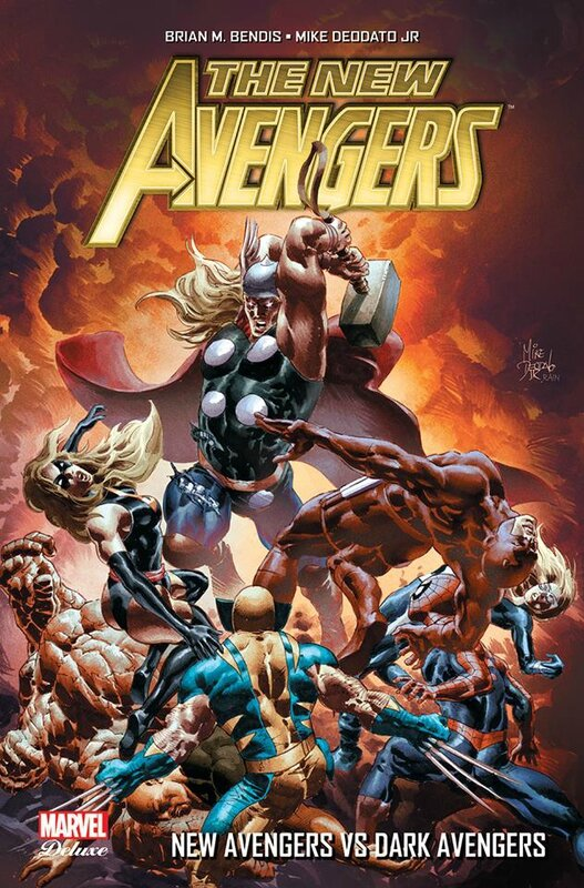 marvel deluxe new avengers V2 2 vs dark avengers