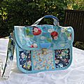 Cartable turquoise