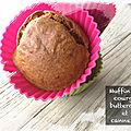 Muffin de buttercup et cannelle ( 157 cal/ par muffin)