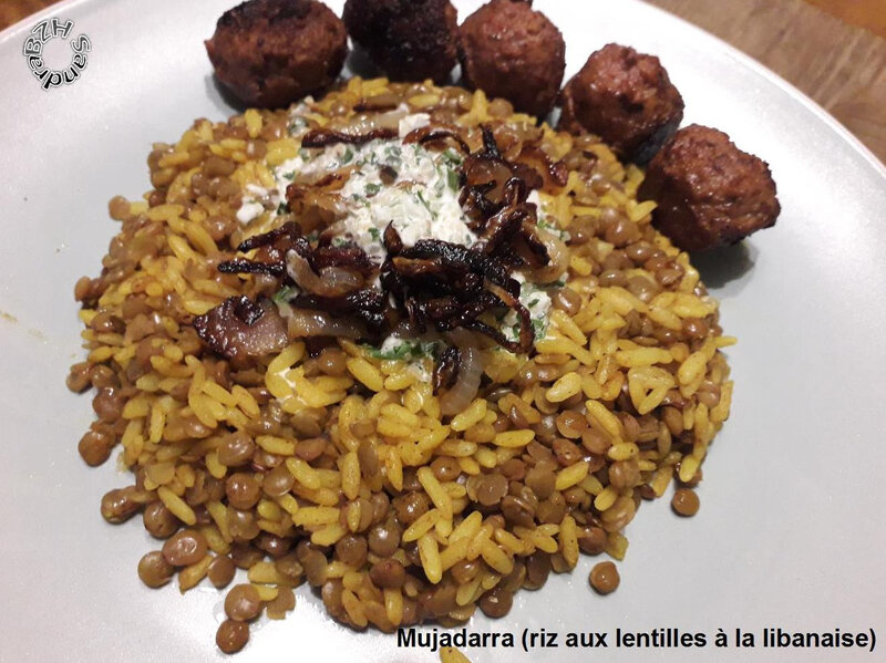 1123 Mujadarra (riz aux lentilles à la libanaise) 1