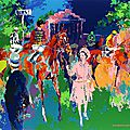 Leroy neiman queen at ascot painting