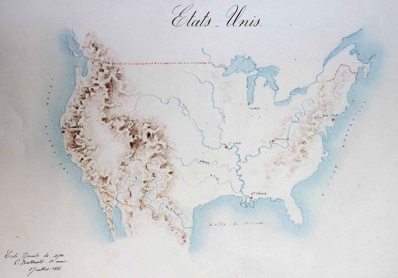 Atlas élèves-maîtresses Etats-Unis