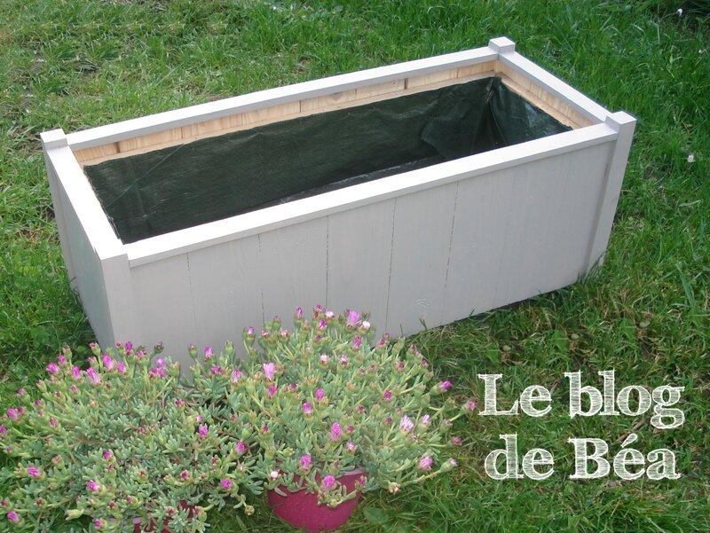DIY jardinière en planches de palette et tasseaux