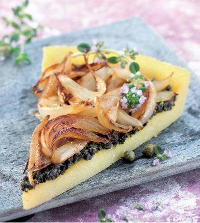 tarte polenta oignons