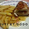 Poitrines de poulet farcies des oursons gourmands