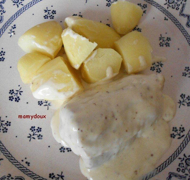 saumonette sauce moutarde