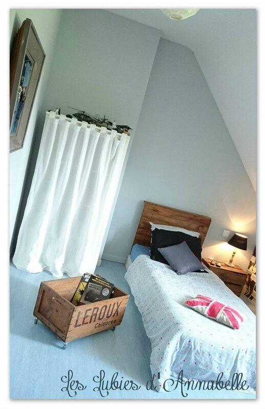chambre adolescent theme nature bois beton (Copier)