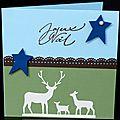 56. bleu, vert, chocolat et vanille - famille de cerfs