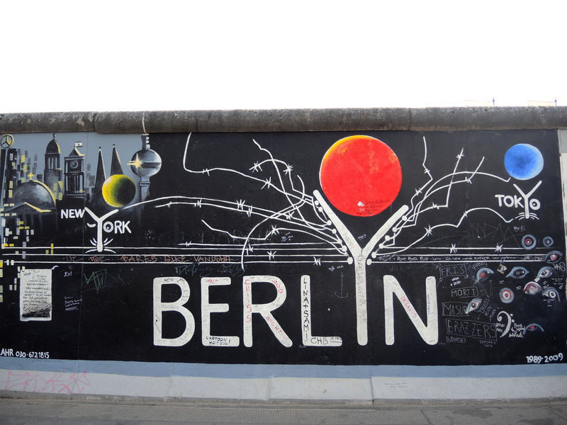 BERLIN, East Side Gallery, fresque de Gerhad Lahr (Allemagne)