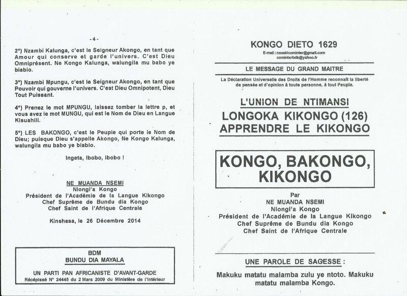 KONGO BAKONGO KIKONGO a