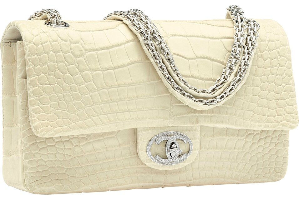 a8c09eb89fa8 Exceptional Chanel  Diamond Forever  Flap Bag sparkles in New York Luxury  auction