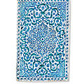 A large iznik blue and white pottery tile, ottoman turkey, circa 1600