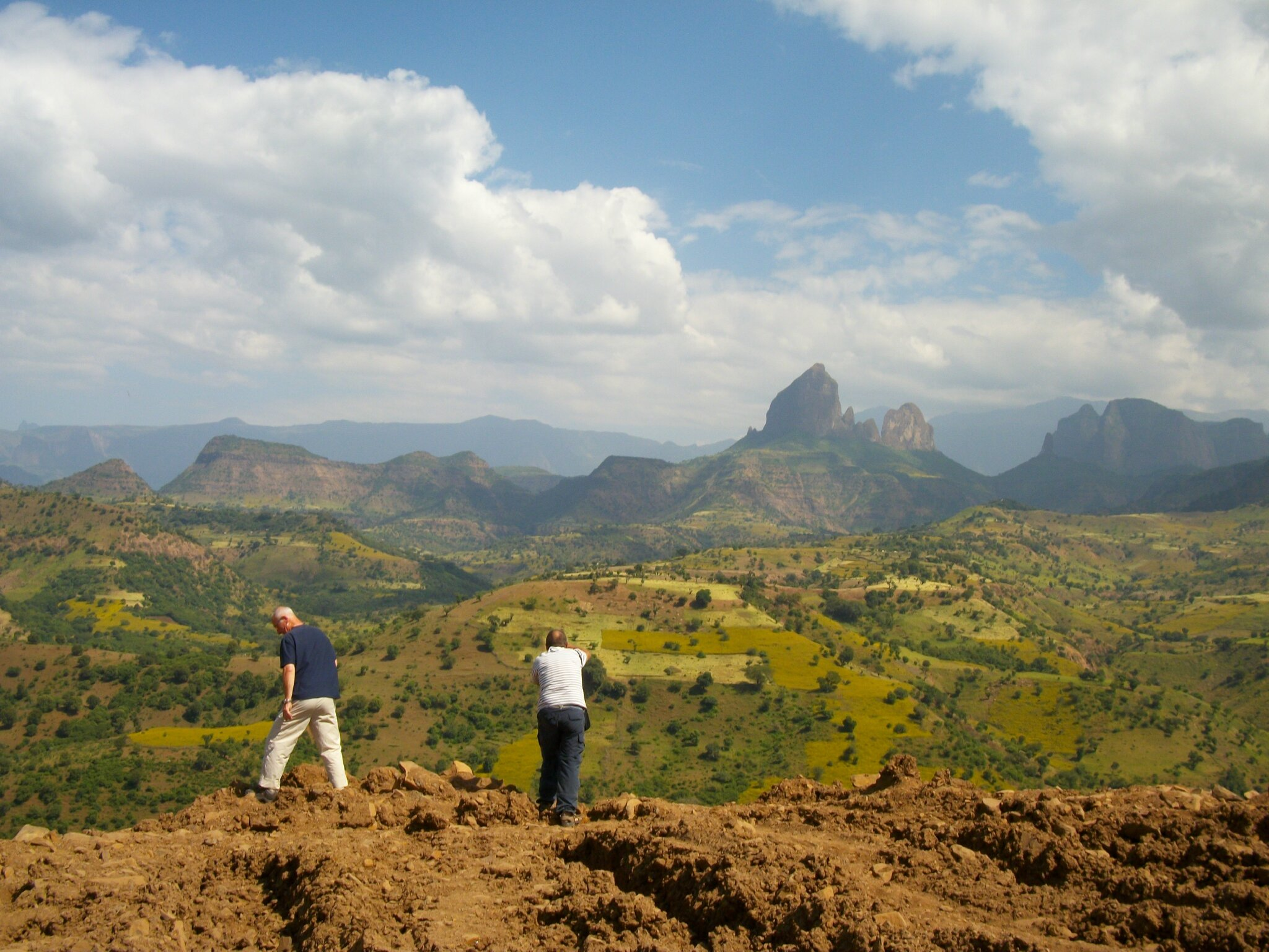abyss land tour and travel ,clients in the simien mountain