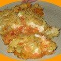 Crumble de tomates au chèvre frais de cyril lignac