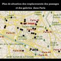 Passages Couverts de Paris - Plan de situation