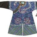 kesi-woven dragon robes & a lady's kesi-woven silk vest, 19th century & qing dynasty