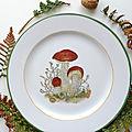 assiette bolet orangé - marimerveille