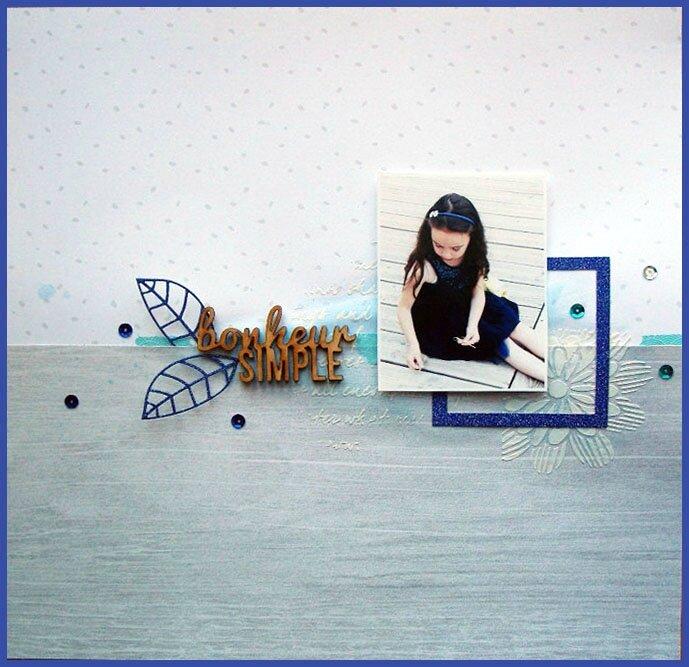 """DT Sagapo Scrap - Page / Layout """"Bonheur simple"""""""