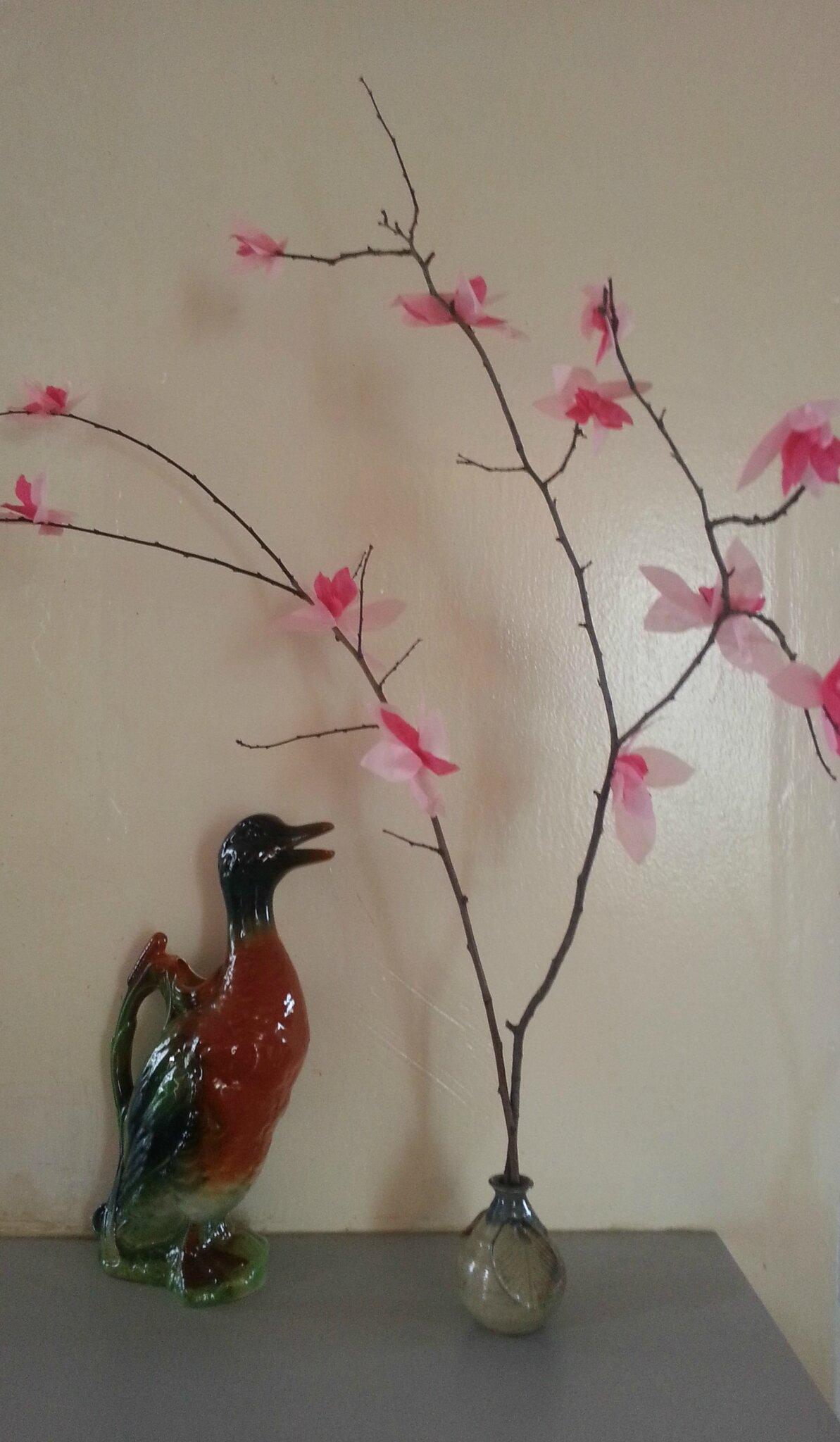 Tuto Fleurs De Cerisier En Papier De Soie Une Décoration Facile à