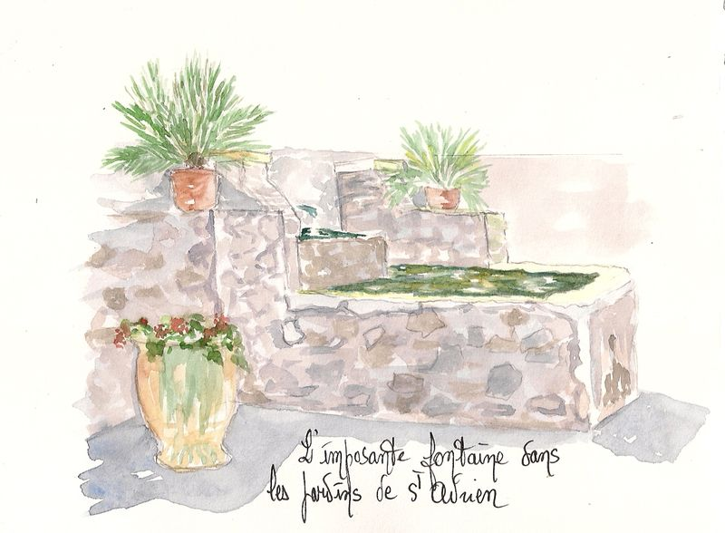 Une des fontaines du jardin St Adrien