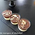 Duo de mangue et chocolat