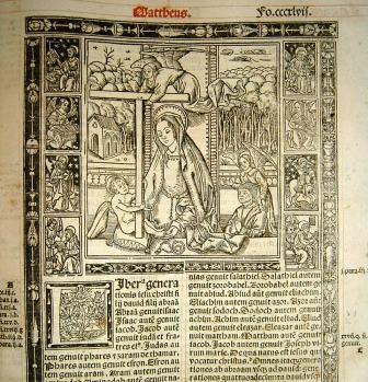 Incipit de l'évangile de Matthieu - Bible de Cambrai - 1520