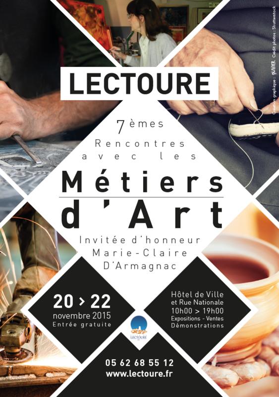 Affiche Métiers d'Art Lectoure 2015