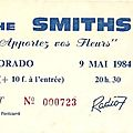The smiths - mercredi 9 mai 1984 - eldorado (paris)