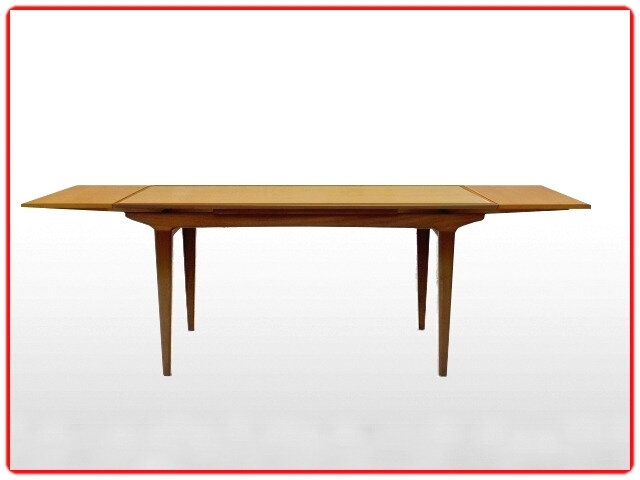 Table teck rallonges scandinave 1960