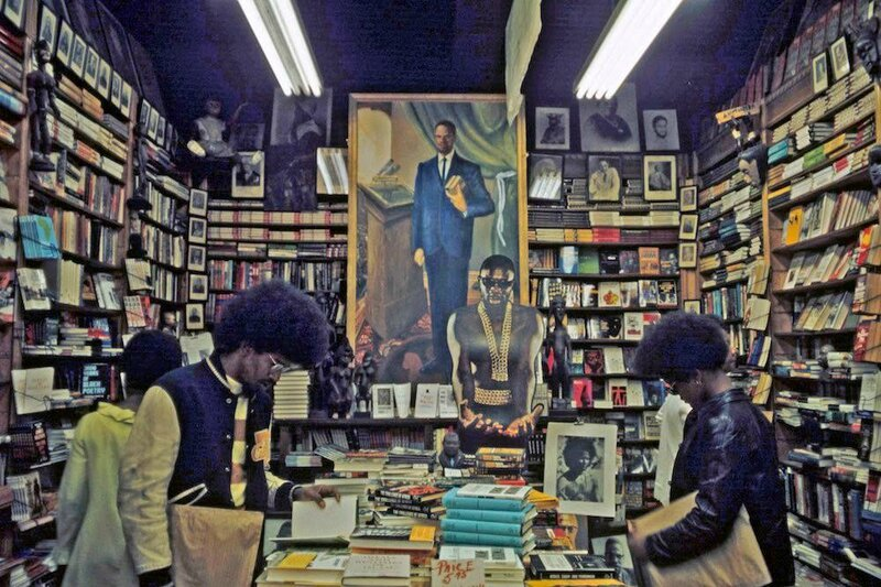 A bookstore in 1970's Harlem
