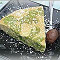 Gâteau marbré citron/pistache
