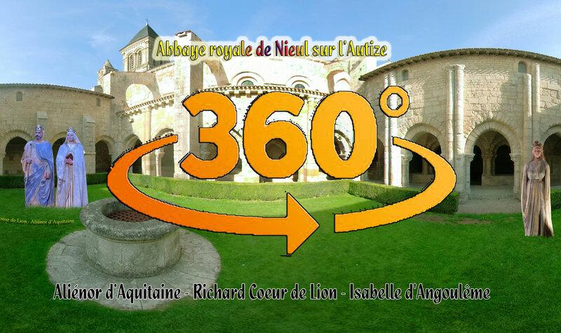 Aliénor d'Aquitaine, Richard Coeur de Lion, Isabelle d'Angoulême - Abbaye Royale de Nieul sur l'Autize