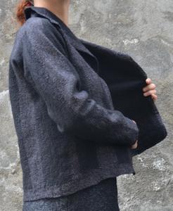 veste noire profil