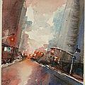 Petit format : aquarelle de new york