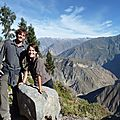60 We did it ! Plus de 1000 mètres de dénivelé, entre l'Oasis (2100 m) et Cabanaconde (3287 m)