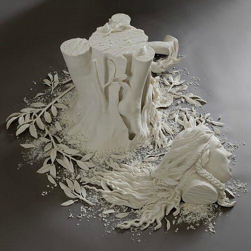 Kate MacDowell Art de la porcelaine
