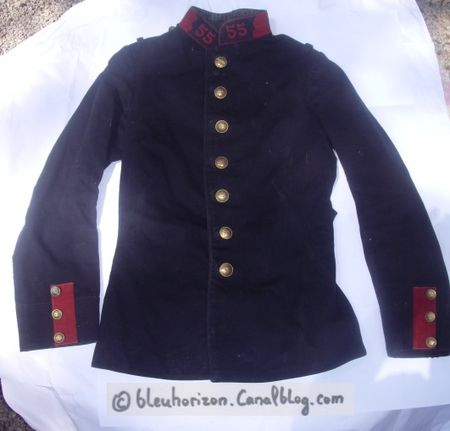 Manteau officier bleu horizon
