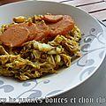Curry de patates douces et chou chinois