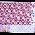 Pochette à mouchoirs en 100% coton rose à effet patchwork imprimé chouettes